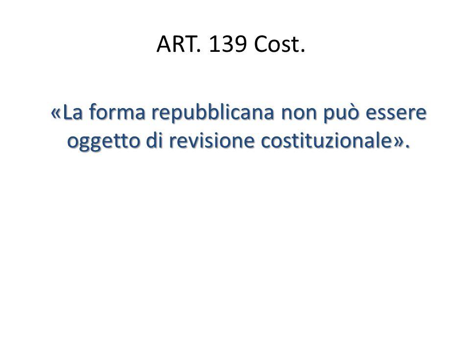 Art.1 Cost. L'Italia è una Repubblica democratica, fondata sul lavoro.