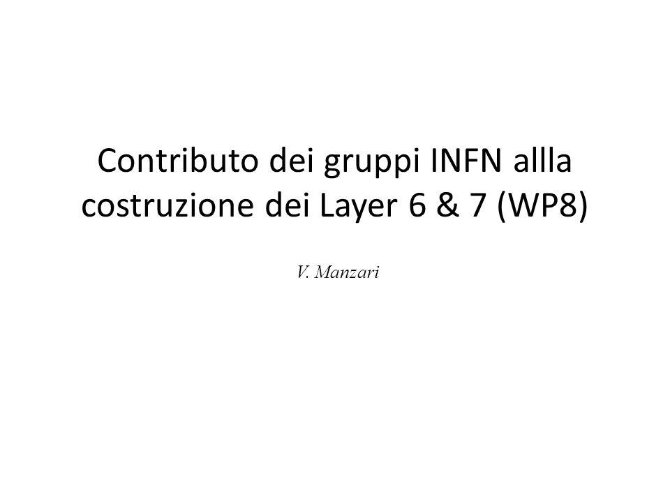 Contributo dei gruppi INFN allla costruzione dei Layer 6 & 7 (WP8) V. Manzari
