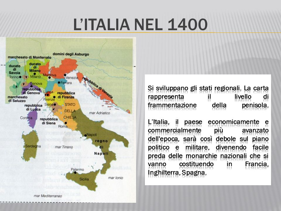 L'ITALIA NEL 1400