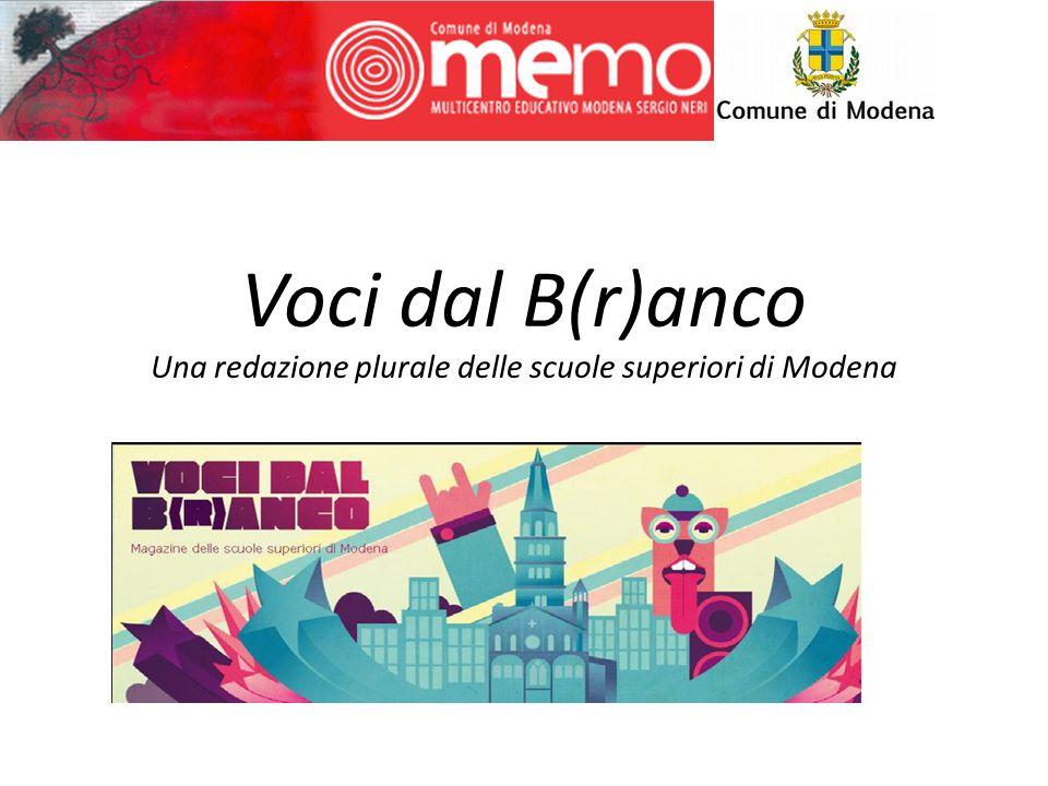 Voci dal B(r)anco Una redazione plurale delle scuole superiori di Modena