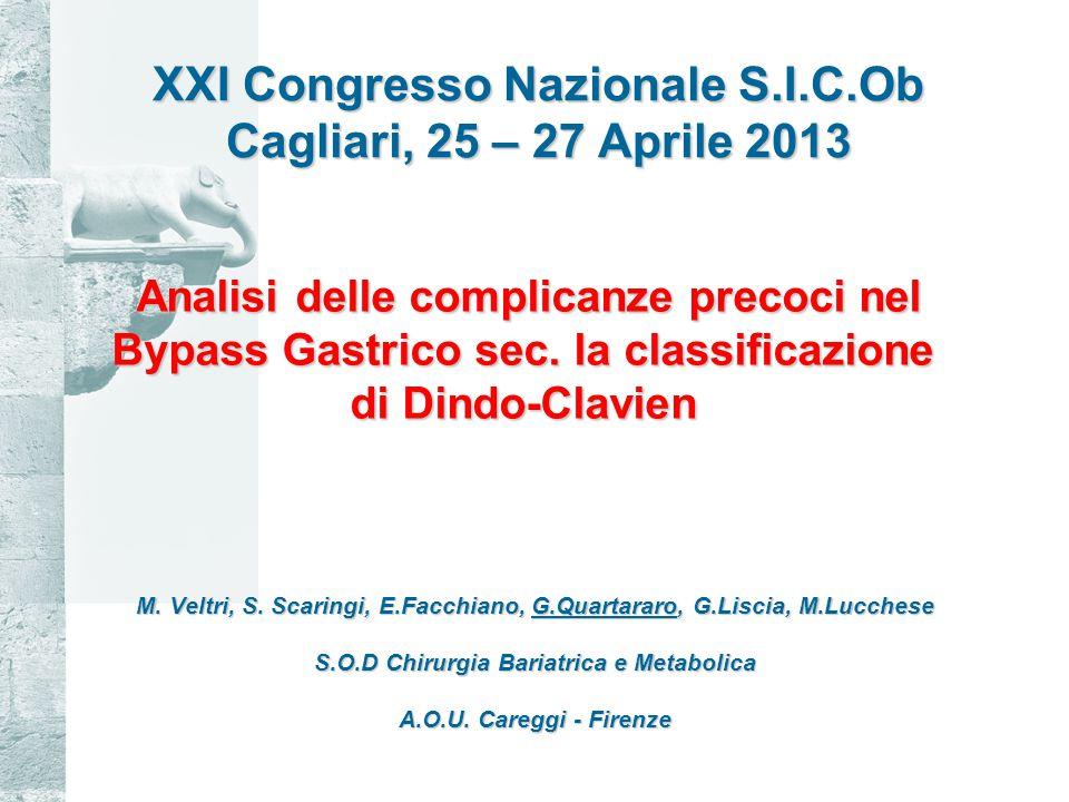 XXI Congresso Nazionale S.I.C.Ob Cagliari, 25 – 27 Aprile 2013 M.