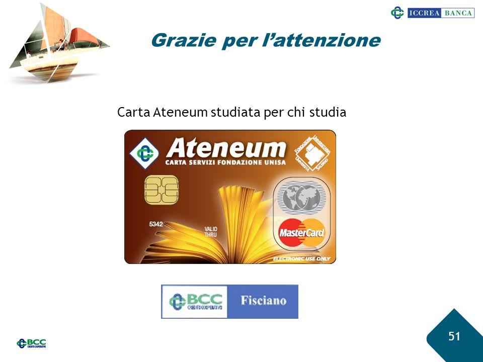 51 Grazie per l'attenzione Carta Ateneum studiata per chi studia