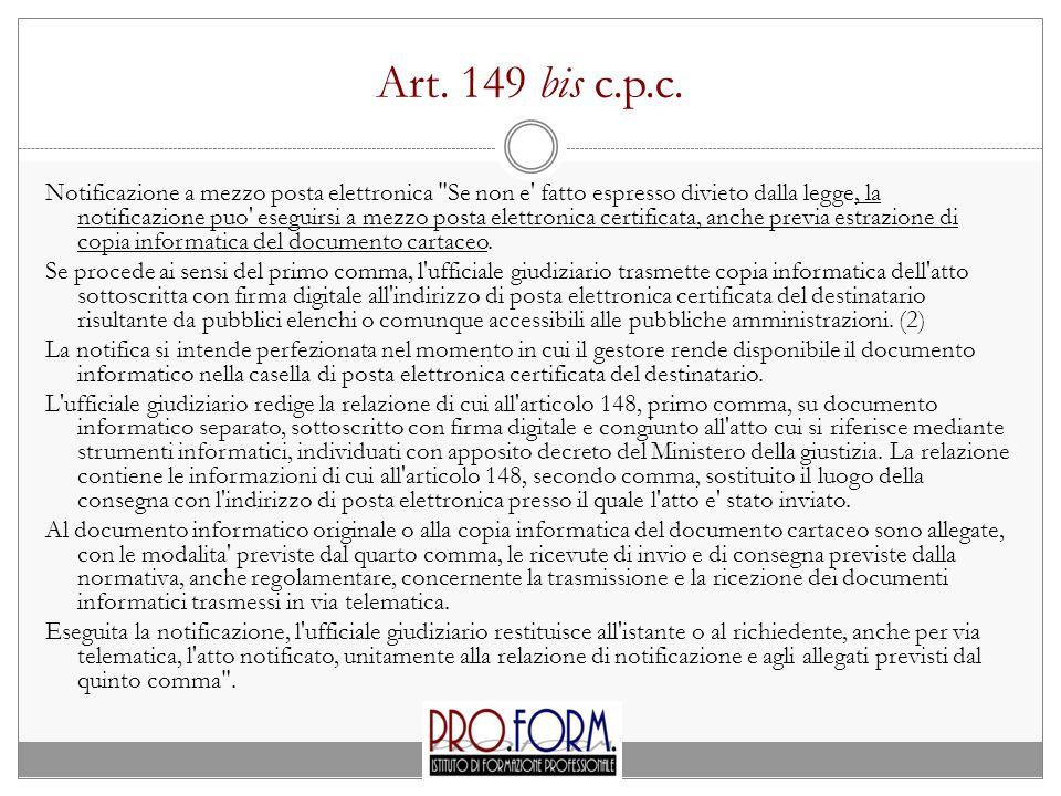 Art.149 bis c.p.c.