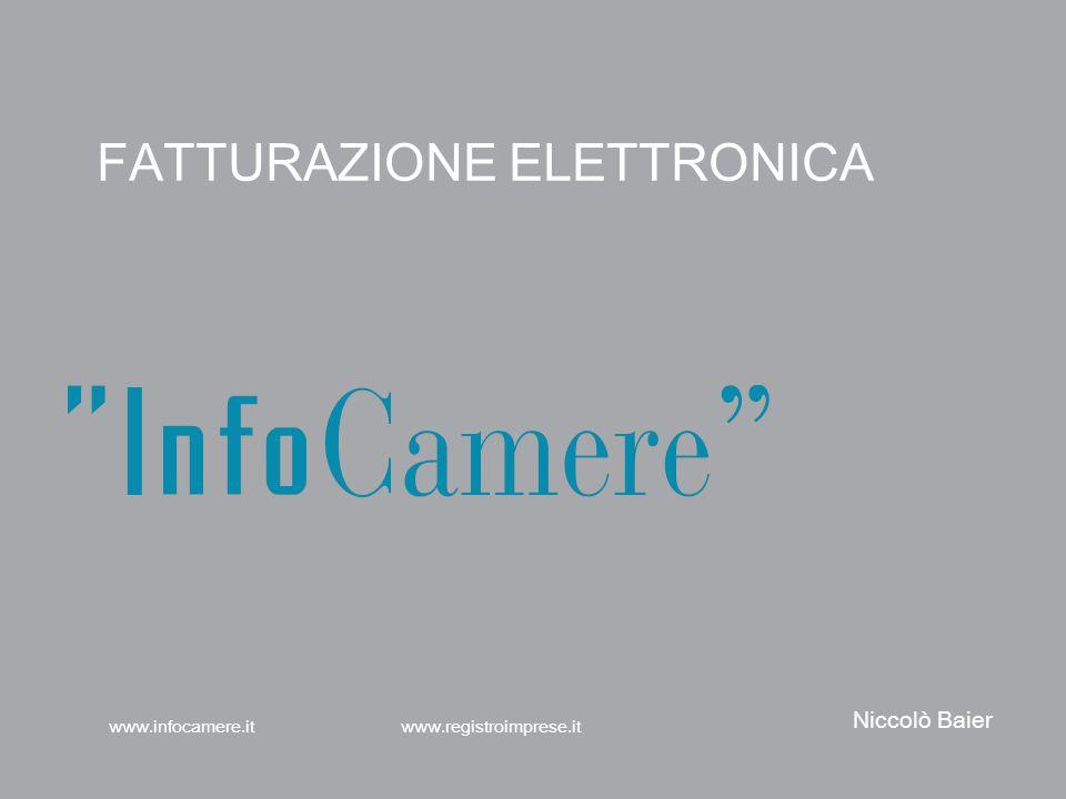 FATTURAZIONE ELETTRONICA www.registroimprese.itwww.infocamere.it Niccolò Baier