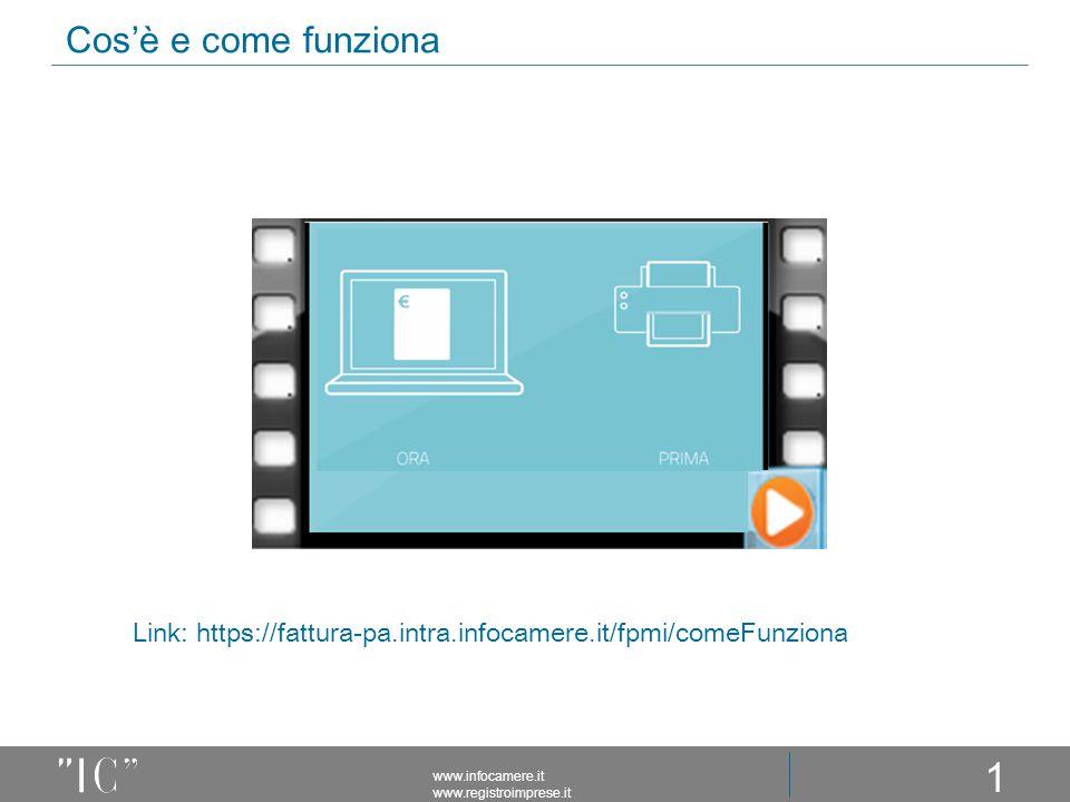 Cos'è e come funziona www.infocamere.it www.registroimprese.it 15 Link: https://fattura-pa.intra.infocamere.it/fpmi/comeFunziona