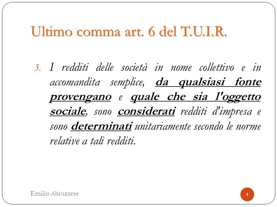 Primo comma art.81 del T.U.I.R.