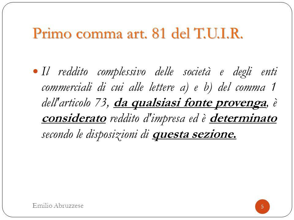 Primo comma art. 81 del T.U.I.R.