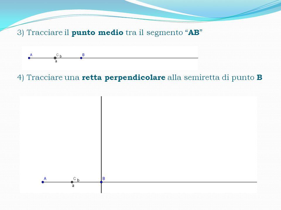 Costruzione del rettangolo aureo 1) Tracciare il segmento AB , che può essere di una lunghezza data se dobbiamo costruire un rettangolo specifico oppure di una lunghezza a piacere.