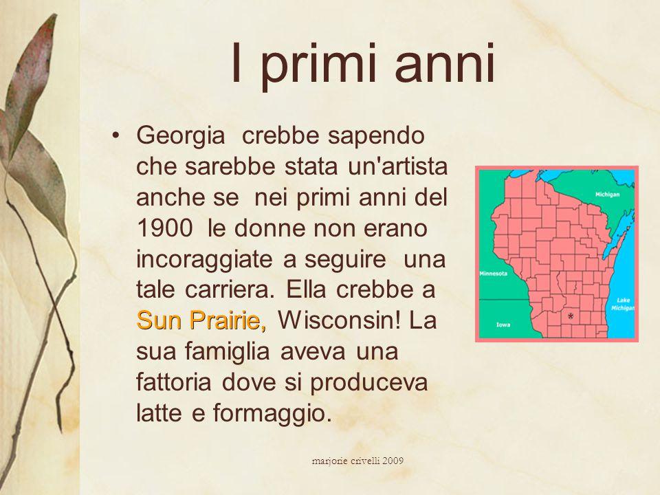I primi anni Sun Prairie,Georgia crebbe sapendo che sarebbe stata un'artista anche se nei primi anni del 1900 le donne non erano incoraggiate a seguir
