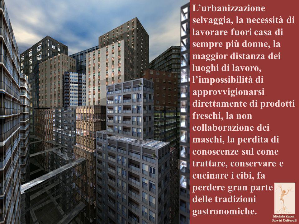 Michela Zucca Servizi Culturali L'urbanizzazione selvaggia, la necessità di lavorare fuori casa di sempre più donne, la maggior distanza dei luoghi di