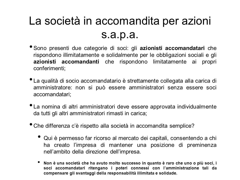 La società a responsabilità limitata Ha delle caratteristiche particolari: si tratta di società con dimensioni minori rispetto alle s.p.a.