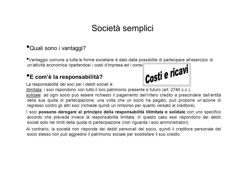 Contratto di società Tipico; Plurilaterale; Consensuale; Di durata; Formale nella maggior parte dei casi.