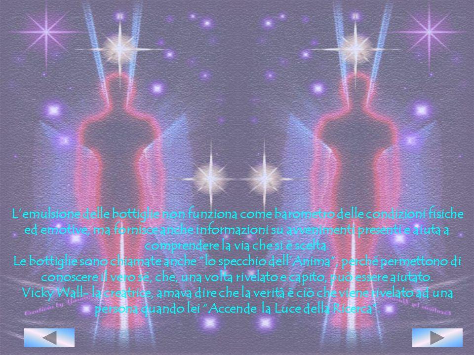 L'Aura Soma è la medicina dell'Anima. Ci sono 105 bottigliette che contengono oli colorati da essenze ed estratti di piante più le vibrazioni dell'ene