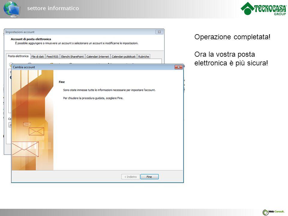 Operazione completata! Ora la vostra posta elettronica è più sicura!