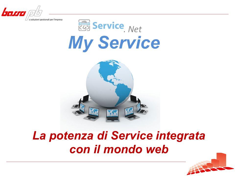 My Service La potenza di Service integrata con il mondo web