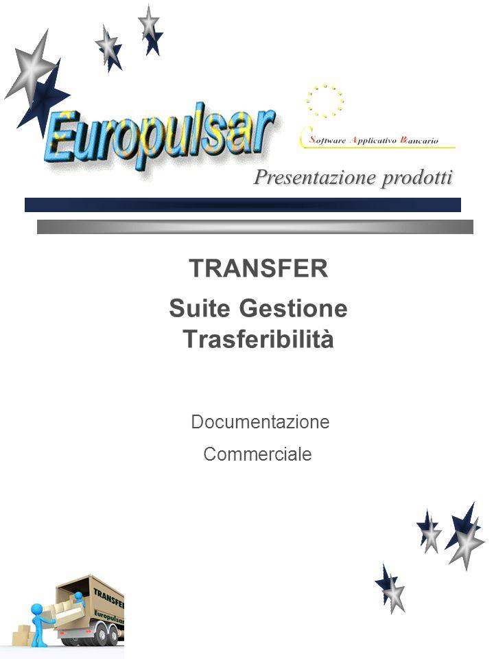 TRANSFER Suite Gestione Trasferibilità Documentazione Commerciale Presentazione prodotti