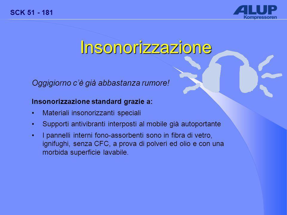 SCK 51 - 181 Insonorizzazione Oggigiorno c'è già abbastanza rumore.