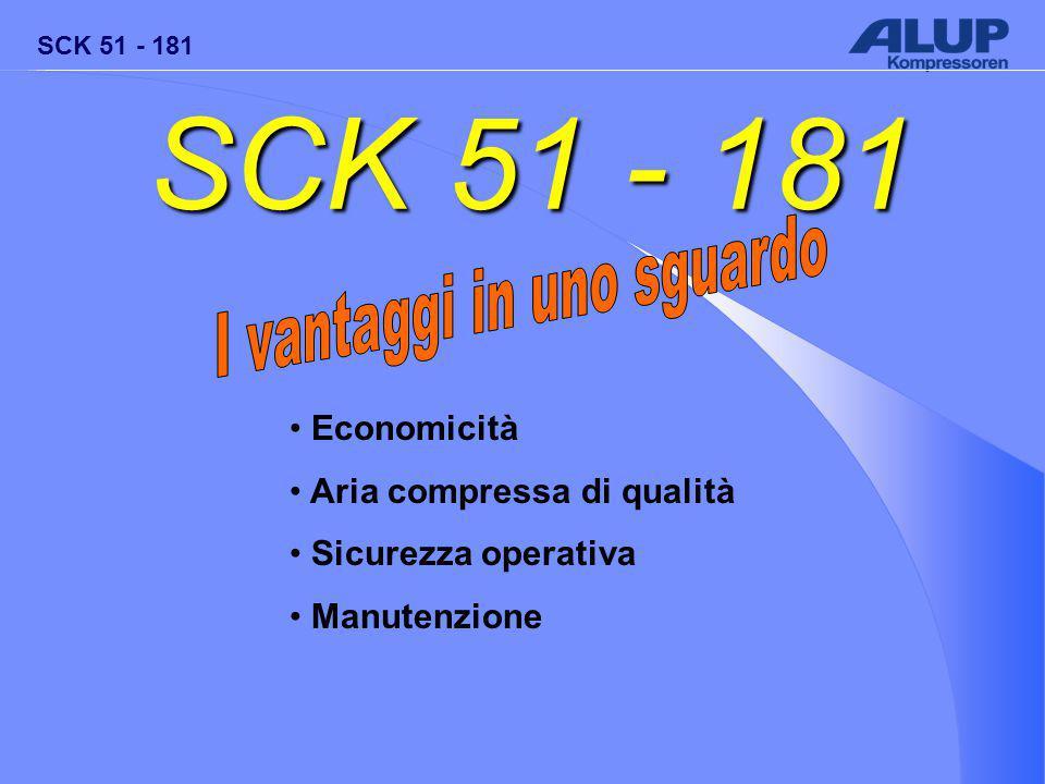 SCK 51 - 181 Economicità Aria compressa di qualità Sicurezza operativa Manutenzione