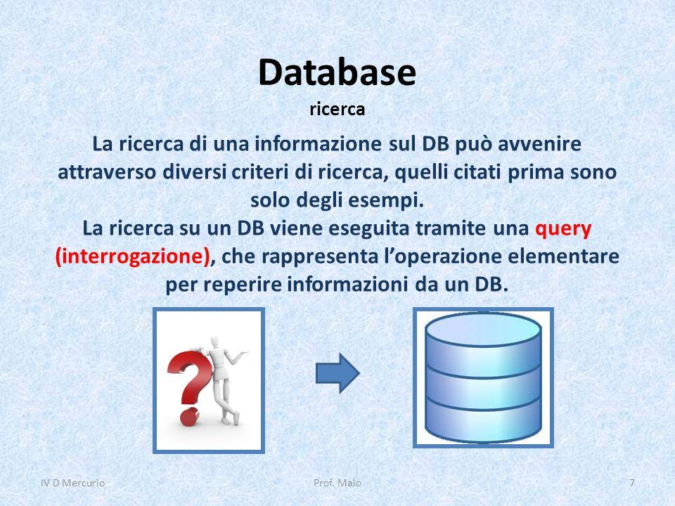 Database DBMS Per DBMS si intende un sistema di gestione dei dati (Data Base Management System) che garantisce un livello di sicurezza ai dati, permettendo una condivisione sicura ed affidabile su un DB.