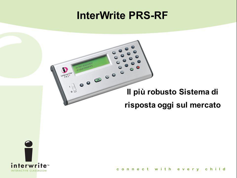 InterWrite PRS-RF Il più robusto Sistema di risposta oggi sul mercato