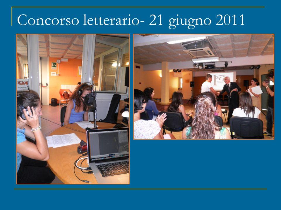 Concorso letterario- 21 giugno 2011