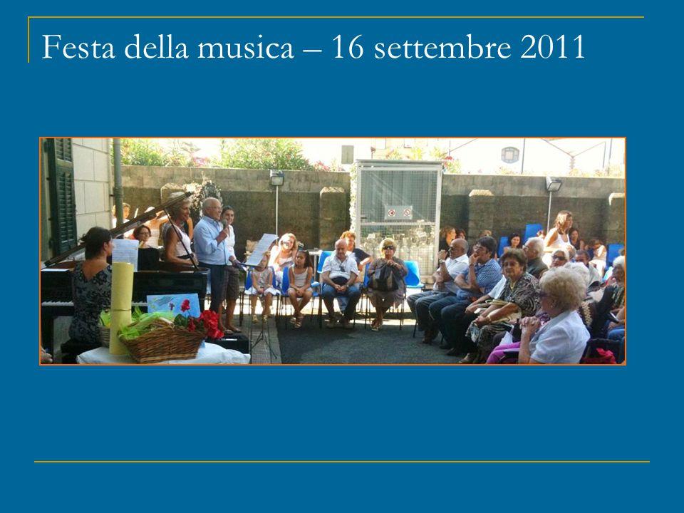 Festa della musica – 16 settembre 2011