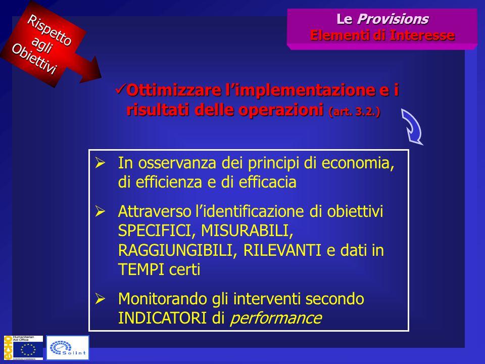 Ottimizzare l'implementazione e i risultati delle operazioni (art.
