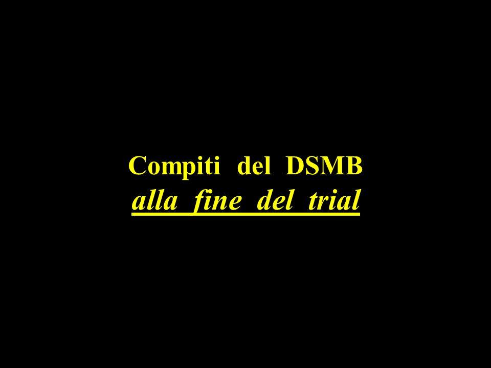 Compiti del DSMB alla fine del trial
