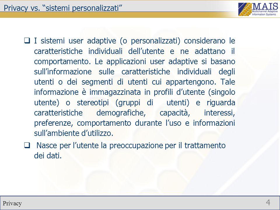 Privacy 5 Normativa italiana Decreto Legisdlativo 30 giugno 2003, n.196 – Codice in materia di protezione dei dati personalii.