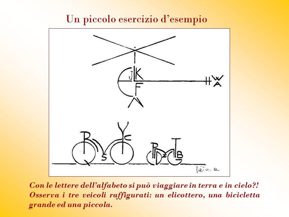Con le lettere dell'alfabeto si può viaggiare in terra e in cielo?! Osserva i tre veicoli raffigurati: un elicottero, una bicicletta grande ed una pic
