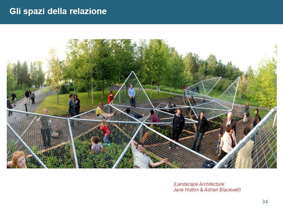 34 Gli spazi della relazione (Landscape Architecture: Jane Hutton & Adrian Blackwell)