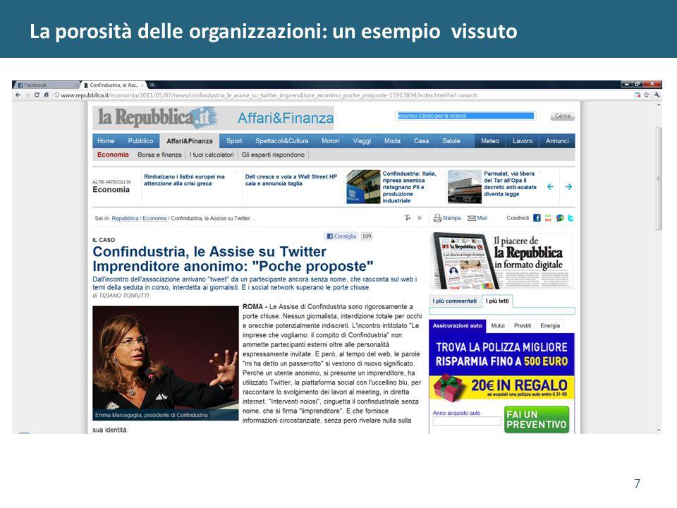 7 La porosità delle organizzazioni: un esempio vissuto