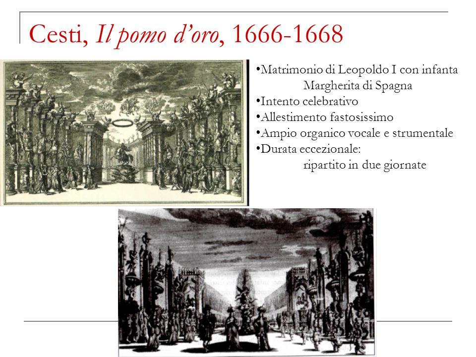 David Merlin, Breve storia della musica italiana a Vienna (ca. 1580-1850) Cesti, Il pomo d'oro, 1666-1668 Matrimonio di Leopoldo I con infanta Margher