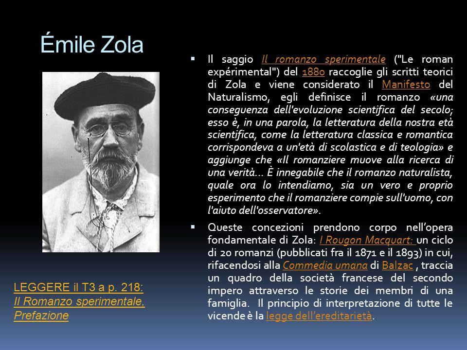 Émile Zola  Il saggio Il romanzo sperimentale (