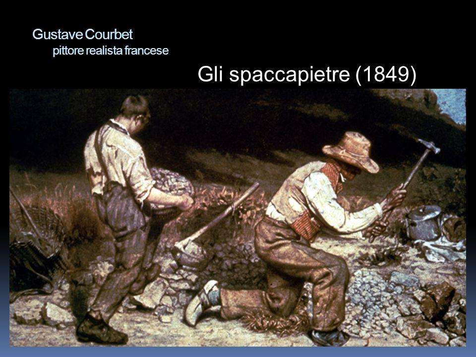 Gustave Courbet pittore realista francese Gli spaccapietre (1849)