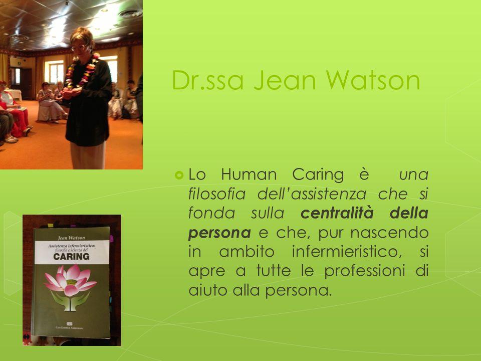 Dr.ssa Jean Watson  Lo Human Caring è una filosofia dell'assistenza che si fonda sulla centralità della persona e che, pur nascendo in ambito infermi