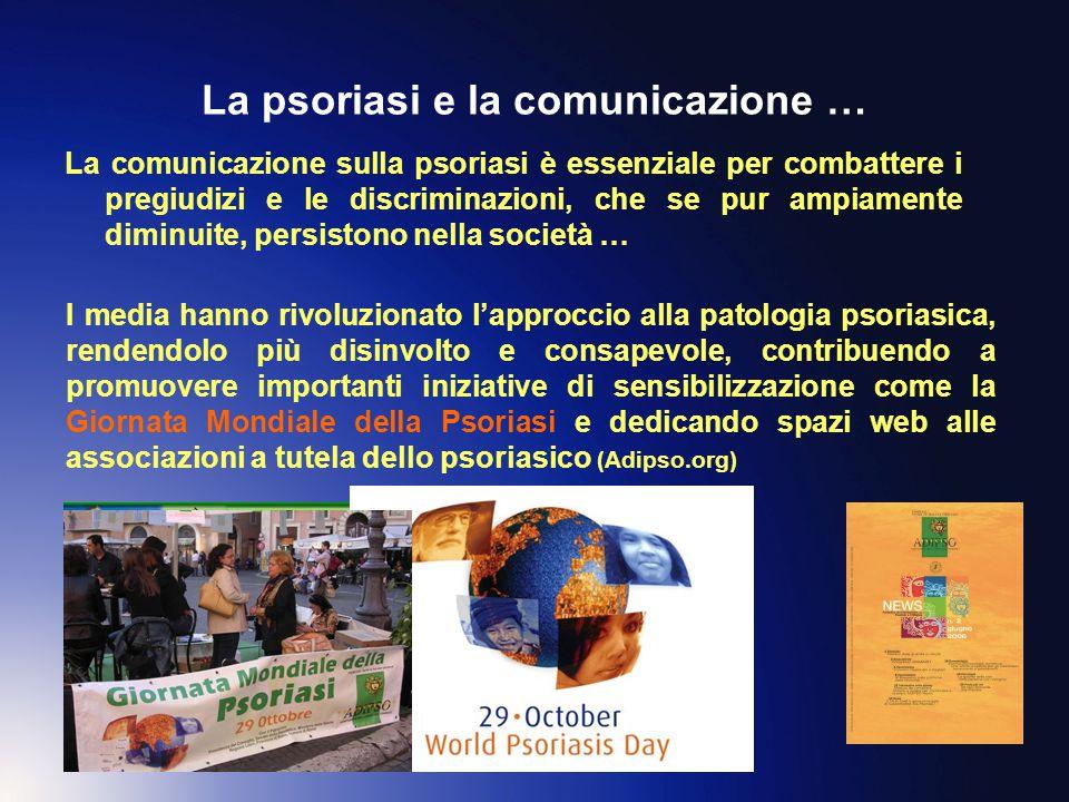 La psoriasi e la comunicazione … La comunicazione sulla psoriasi è essenziale per combattere i pregiudizi e le discriminazioni, che se pur ampiamente