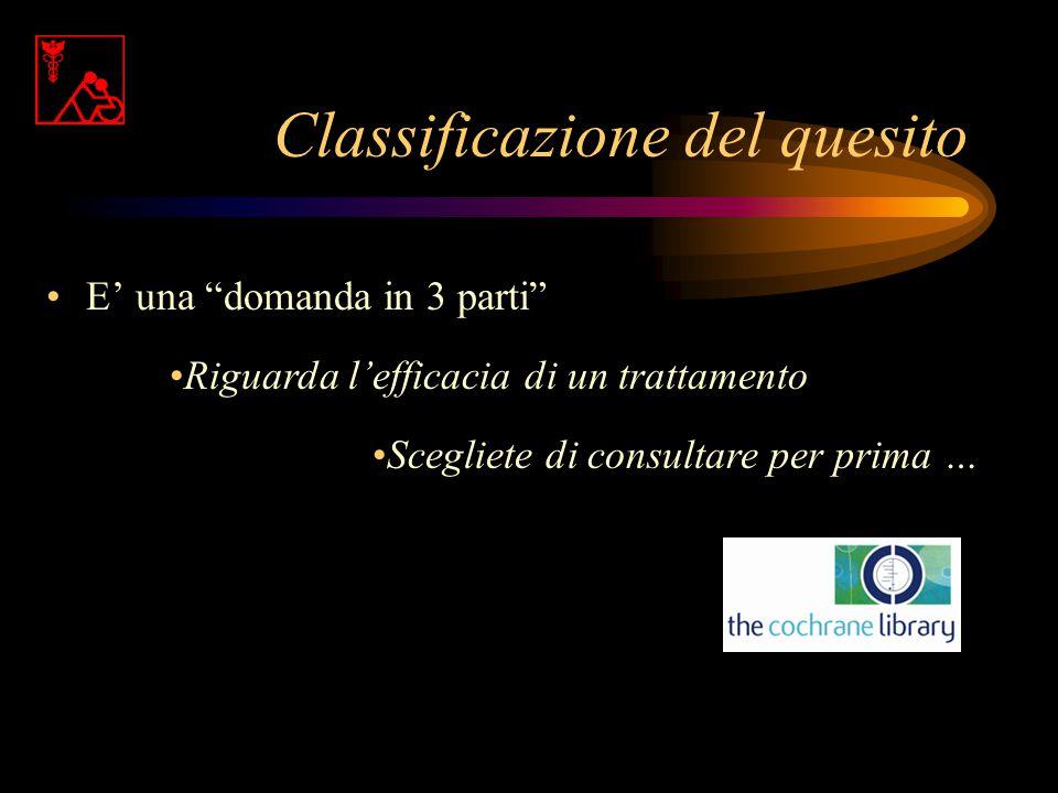 Emicrania ed agopuntura: il quesito P In pazienti con emicrania I la agopuntura, C verso la non agopuntura O riduce la frequenza e/o l'intensità degli