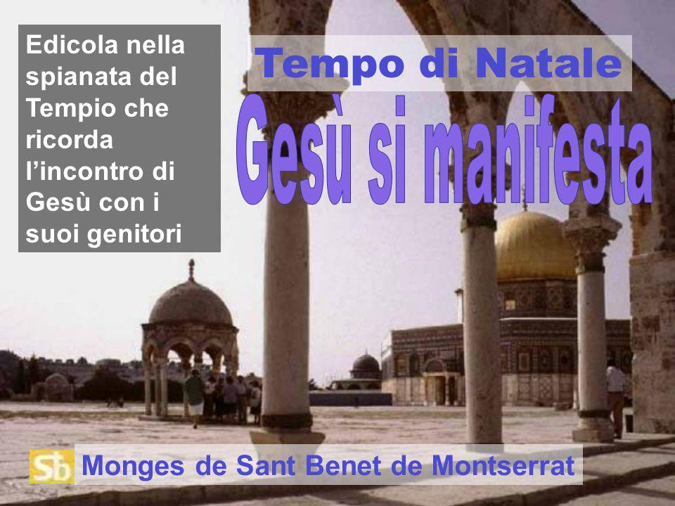 Tempo di Natale Edicola nella spianata del Tempio che ricorda l'incontro di Gesù con i suoi genitori Monges de Sant Benet de Montserrat