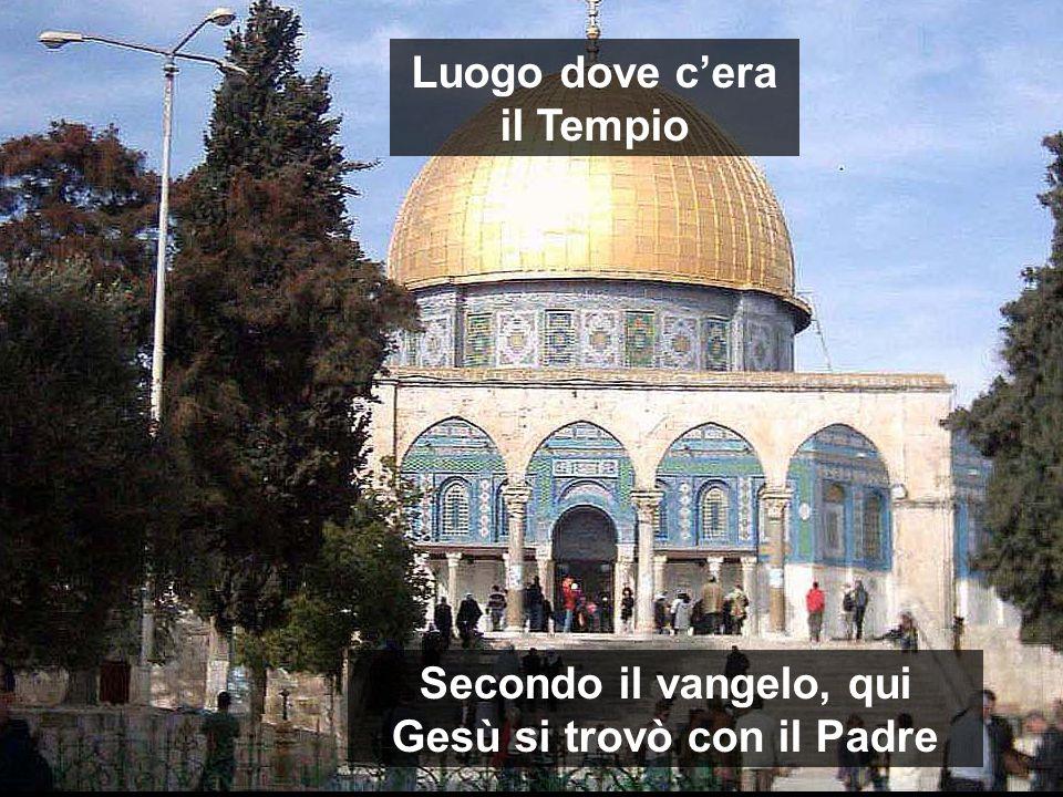 Secondo il vangelo, qui Gesù si trovò con il Padre Luogo dove c'era il Tempio
