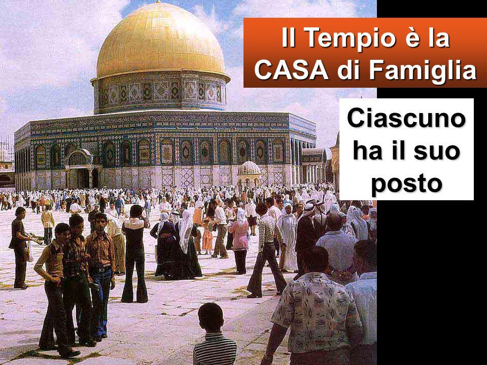 Il Tempio è la CASA di Famiglia Ciascuno ha il suo posto