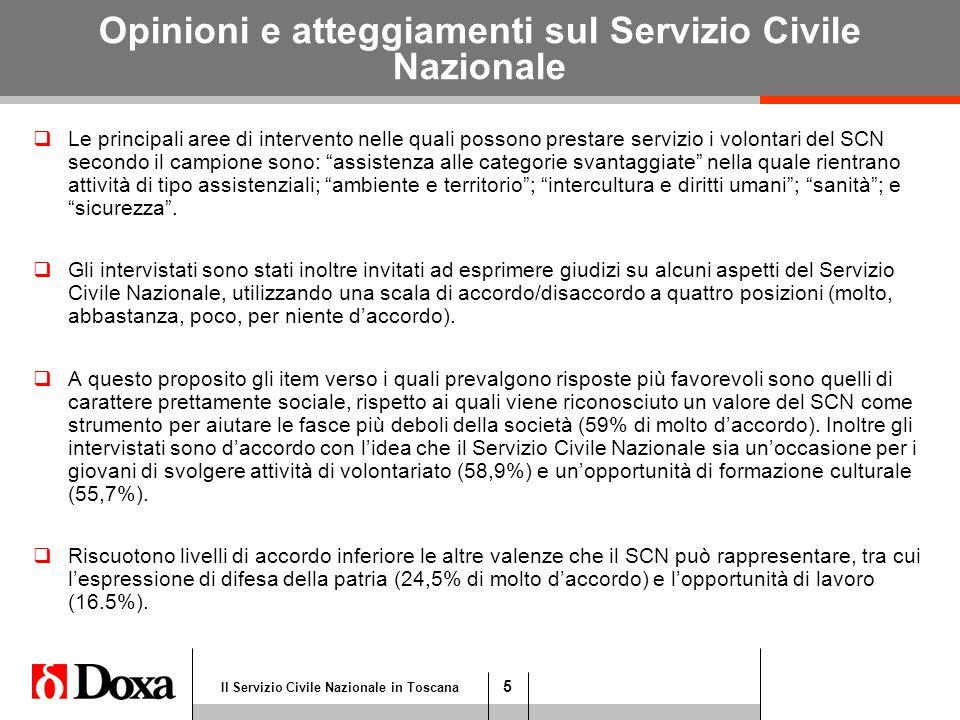 26 Il Servizio Civile Nazionale in Toscana Maggio 2008 Atteggiamenti verso il Servizio Civile Nazionale Valori % D.