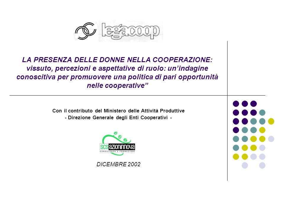 32 SEZIONE 3: La cooperazione e le donne DOM.6b: L'IMPRESA COOPERATIVA GARANTISCE SECONDO TE...