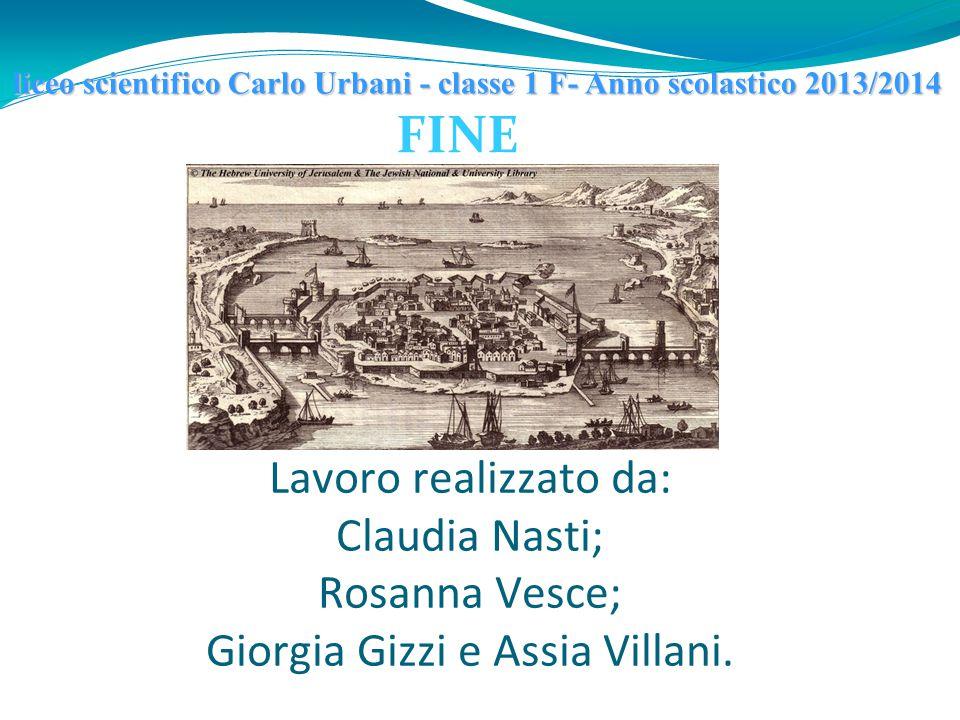 FINE Lavoro realizzato da: Claudia Nasti; Rosanna Vesce; Giorgia Gizzi e Assia Villani. liceo scientifico Carlo Urbani - classe 1 F- Anno scolastico 2