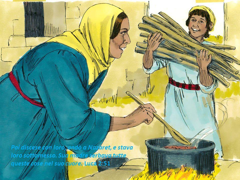 Poi discese con loro, andò a Nazaret, e stava loro sottomesso. Sua madre serbava tutte queste cose nel suo cuore. Luca 2:51