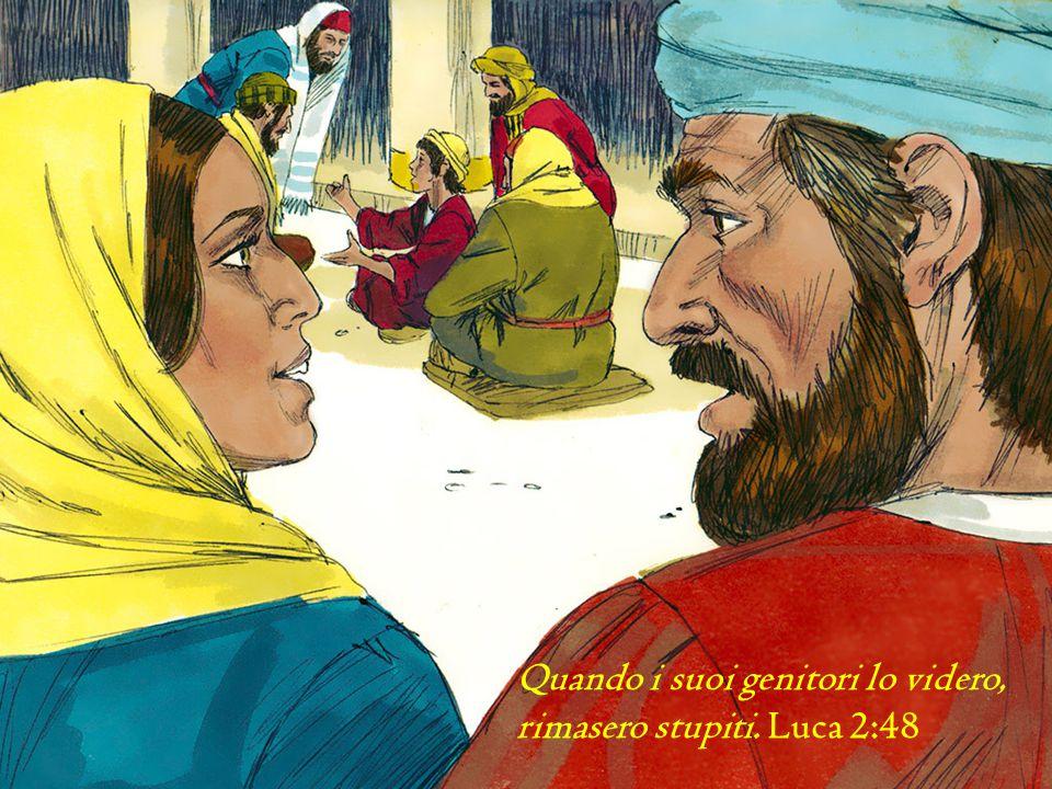 Quando i suoi genitori lo videro, rimasero stupiti. Luca 2:48