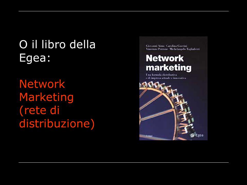 O il libro della Egea: Network Marketing (rete di distribuzione)