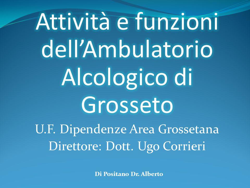Utenti Alcoldipendenti anno 2012 AMBULATORIO ALCOLOGICOSER.T.Totale 51201252