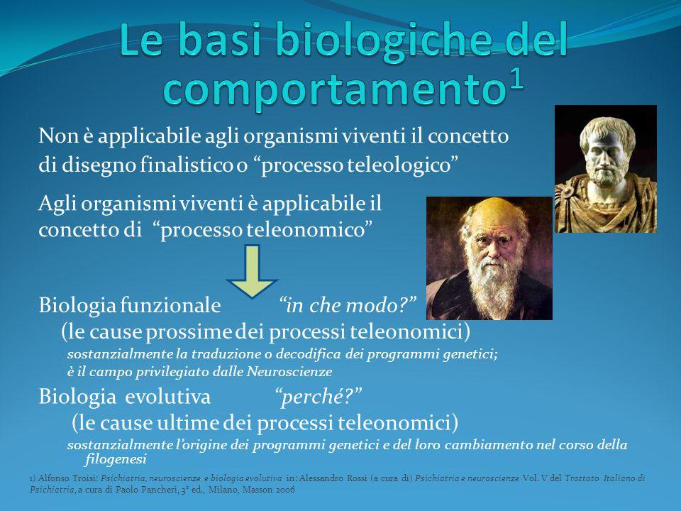 """Non è applicabile agli organismi viventi il concetto di disegno finalistico o """"processo teleologico"""" 1) Alfonso Troisi: Psichiatria, neuroscienze e bi"""