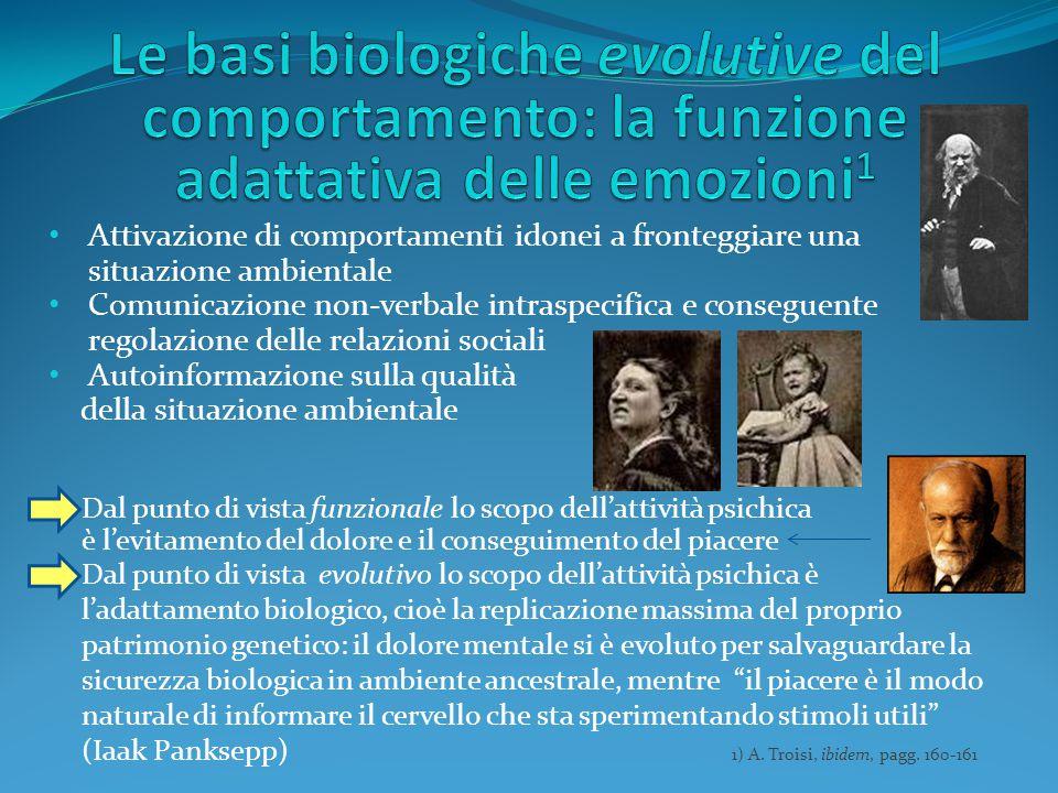Attivazione di comportamenti idonei a fronteggiare una situazione ambientale Comunicazione non-verbale intraspecifica e conseguente regolazione delle